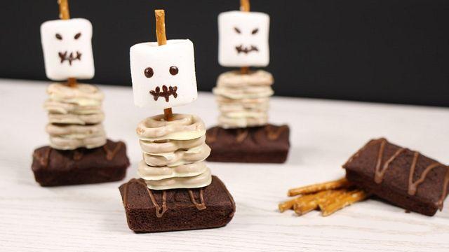 Gruselig-süße Snacks für eine Halloween-Party