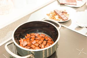 Schokolade einfach schmelzen mit Induktion