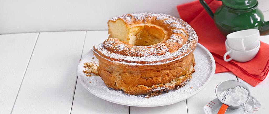Ricotta-Vanille Kuchen