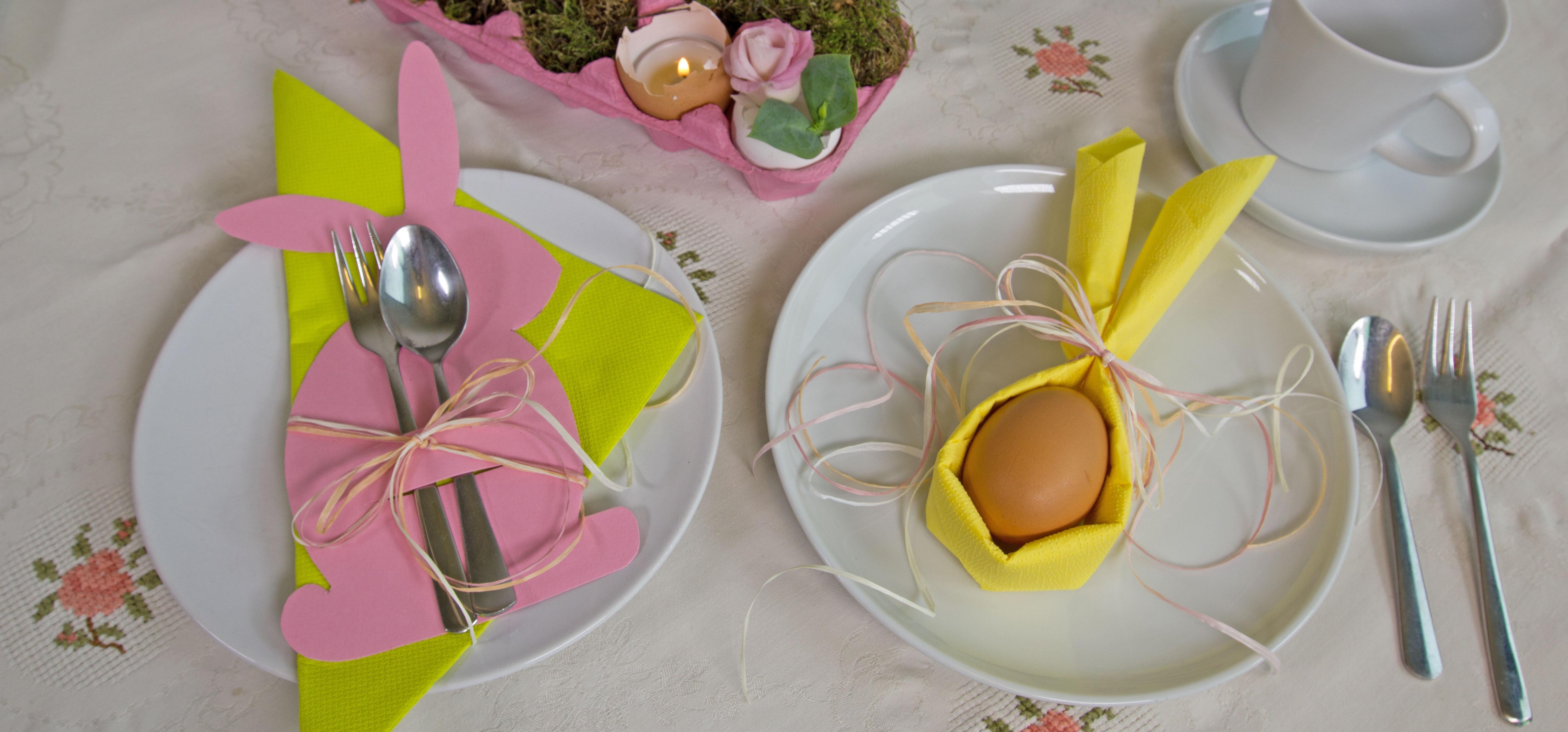 Besteck In Servietten Einwickeln servietten deko für den oster tisch chefkoch de