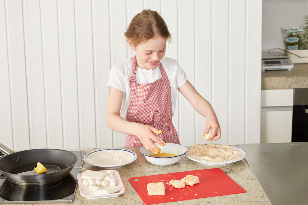 Children cook independently