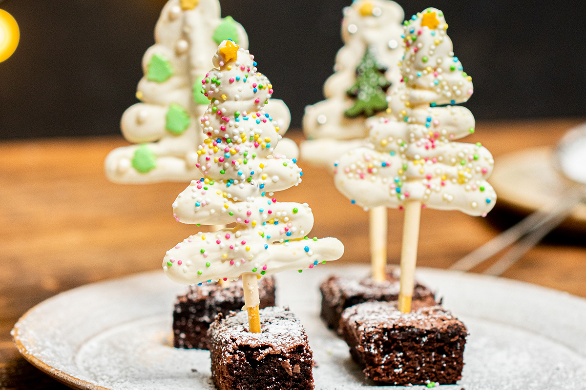 Tannenbäume mit Cake Topper