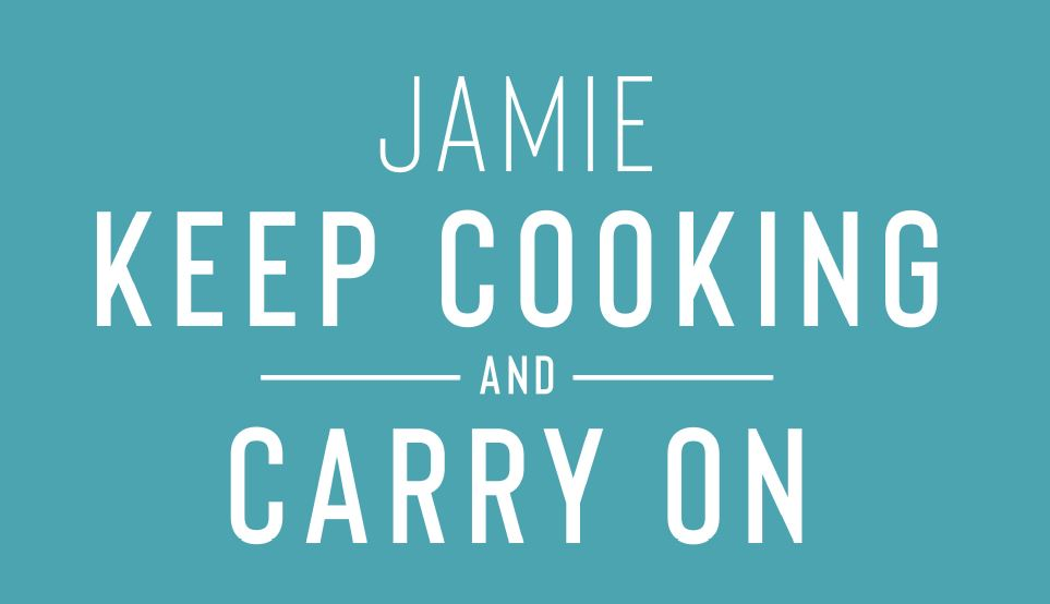 Jamie Oliver Keep Cooking and Carry On Logo