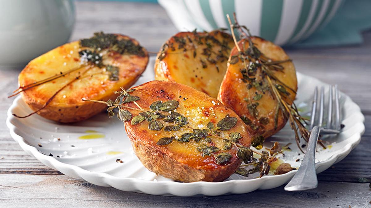 Rezept Ofenkartoffeln mit frischen Kräutern