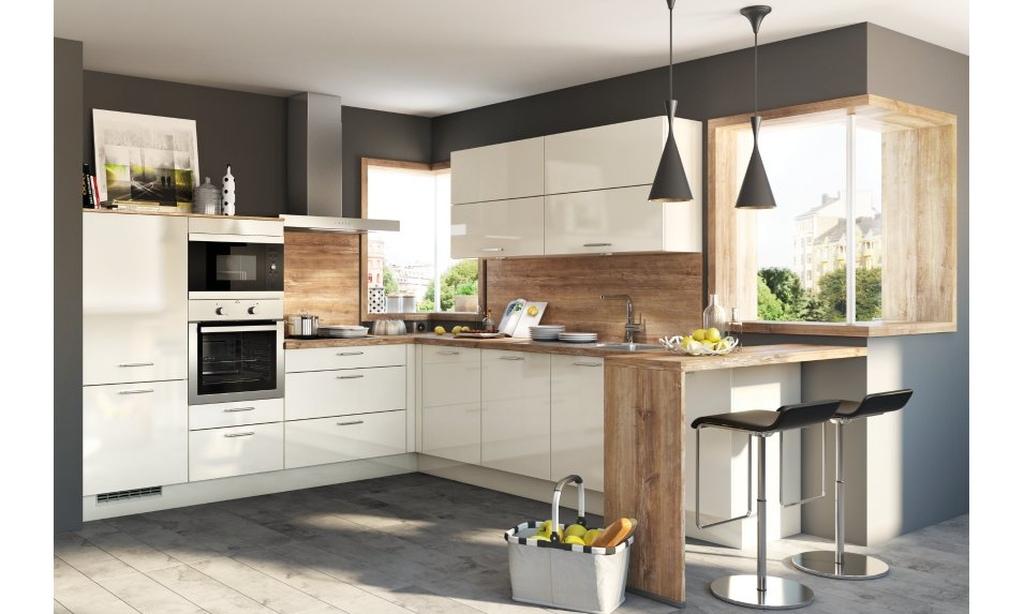 Die helle KA 33.140 Winkelküche von Küche Aktiv