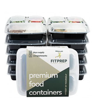 FITPREP® 3-Fach Meal Prep Container [10er Pack]