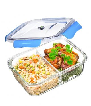 Glas-Lunchbox mit 2 Fächern