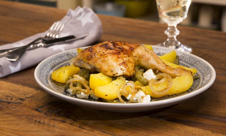Sommerküche Hähnchen : Griechische hähnchen pfanne chefkoch video
