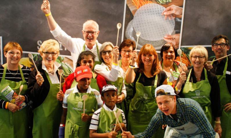 Gute Laune bei den Workshops von Chefkoch.de