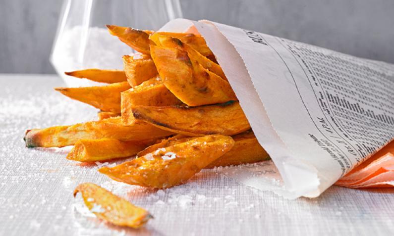 Wanted: Süßkartoffelpommes