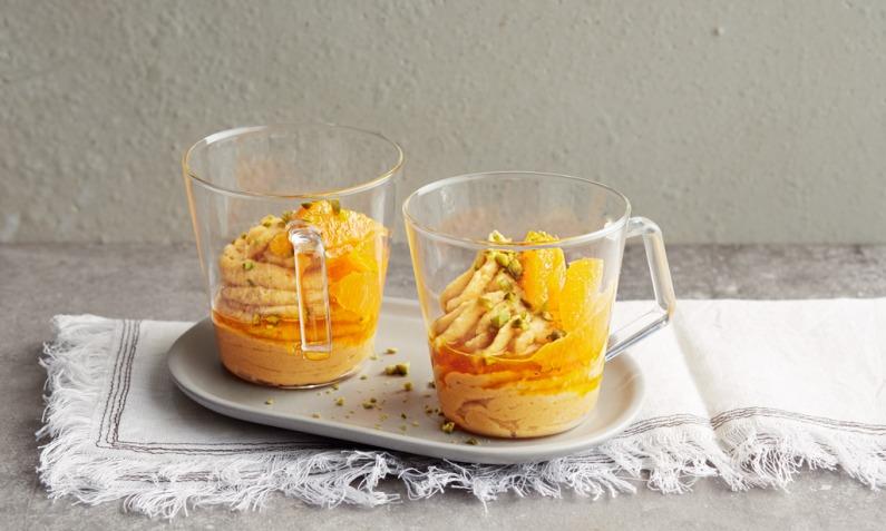 Kürbis-Grieß mit Orangenfilet