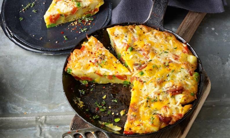 Kartoffel-Paprika-Tortilla mit Finello<sup>®</sup> Ofenkäse