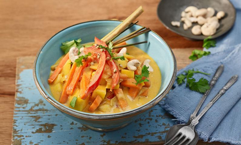 Vielfältige Currys
