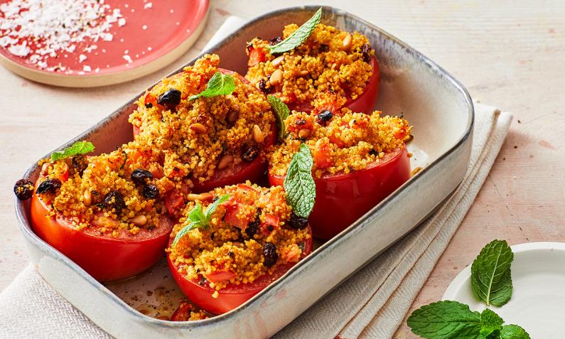 Vegan gefüllte Tomaten