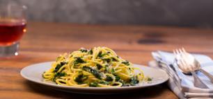 Frühlingsfrische Pasta: Spaghetti mit Bärlauch!