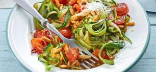 Gemüsespaghetti mit dem Spiralschneider