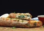 Saftig & knusprig: Lachs-Spinat-Baguette