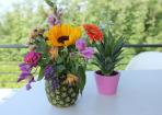 Sommerliche DIY-Deko aus Ananas