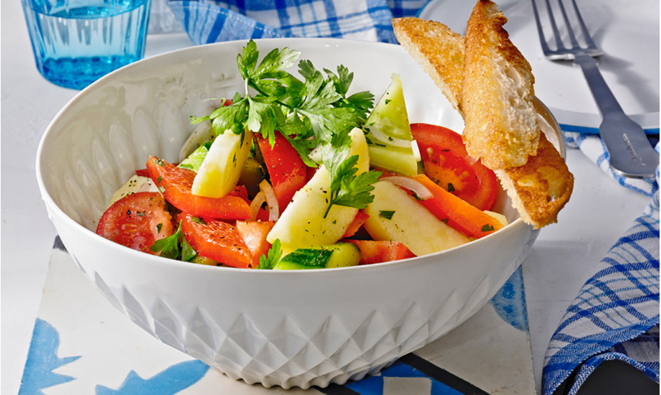 Rezept Tunesischer Gurkensalat mit Äpfeln