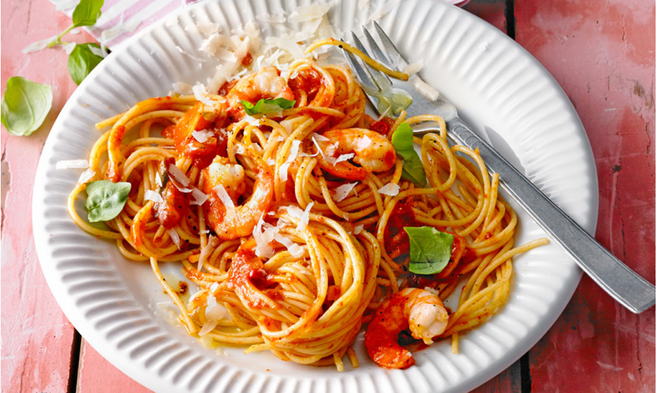 Rezept Spaghetti aglio olio e scampi