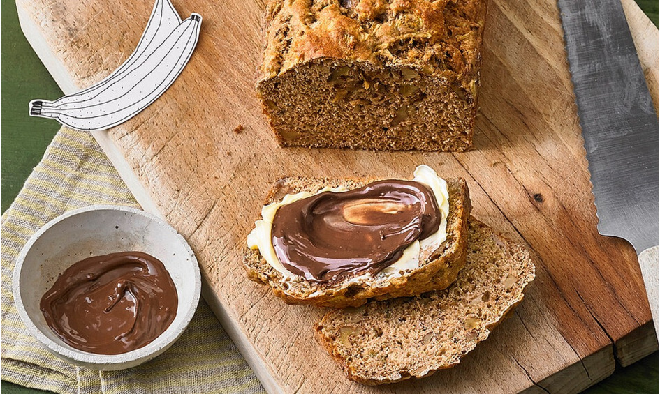 Rezept Bananenbrot ohne extra Fett und Zucker