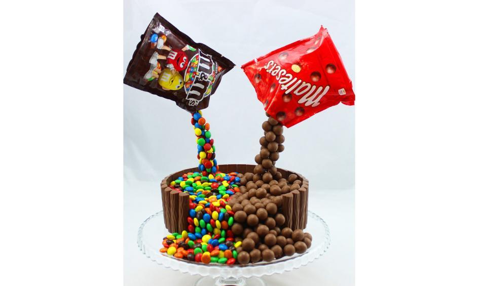 Rainbow Cake With M Amp