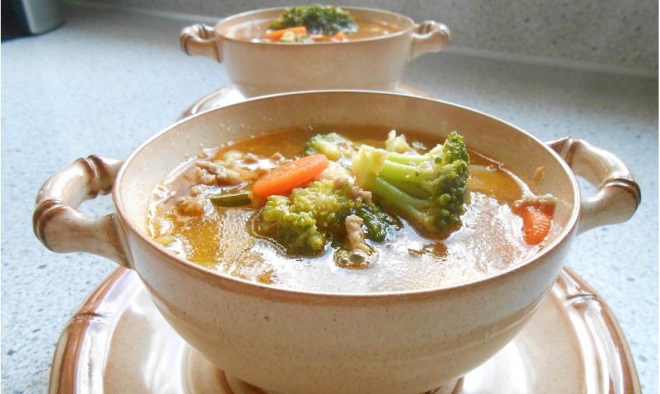 Rezept Gemüsesuppe mit Hackfleisch