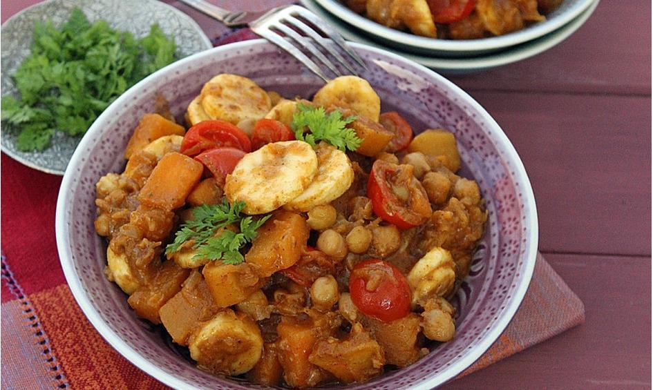 Rezept Kürbis Curry mit Bananen