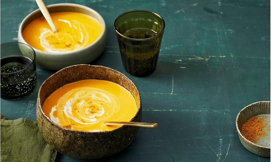 Rezept Kürbissuppe mit einem Hauch Curry