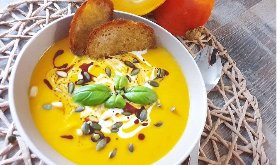 Rezept Kürbissuppe mit Ingwer und Kokosmilch