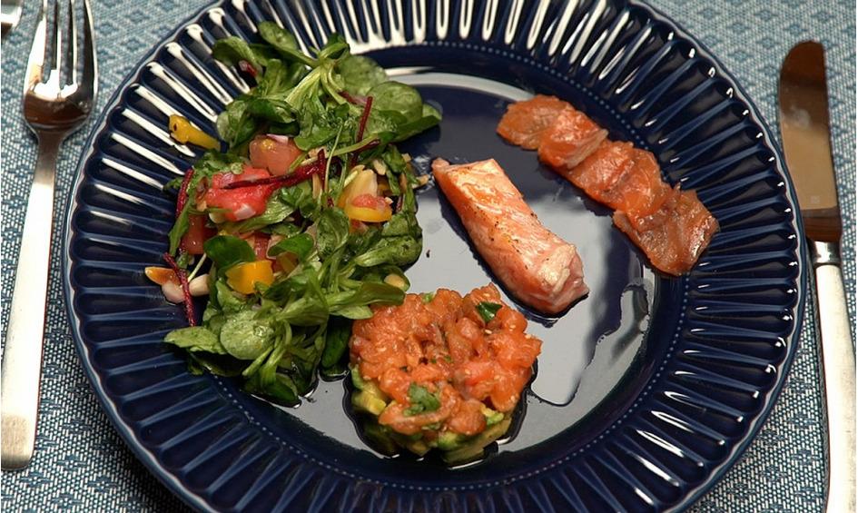 Rezept Lachs und Salat