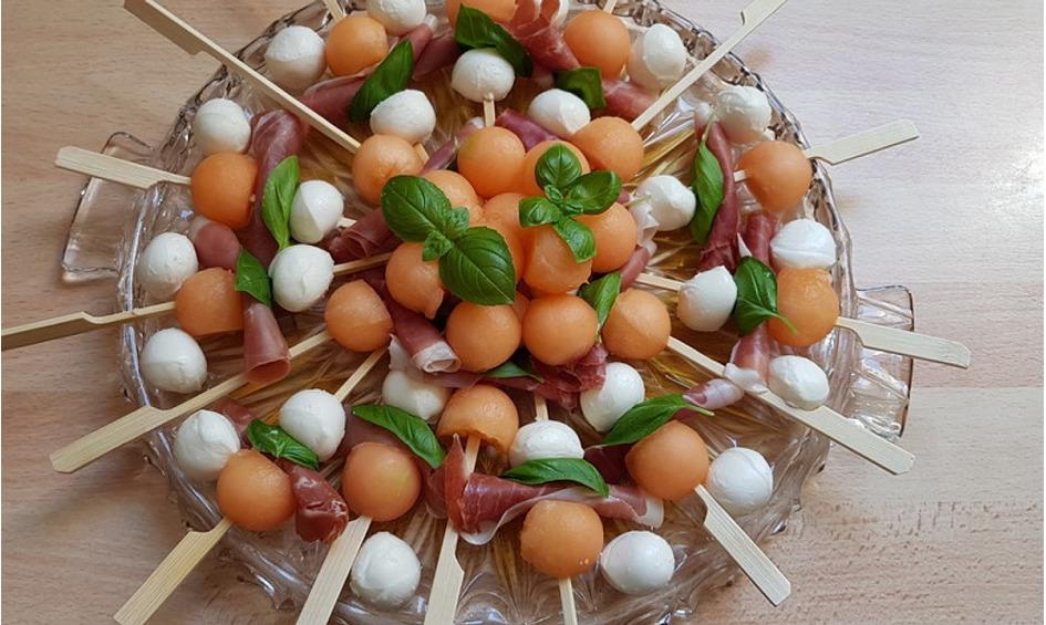 Rezept Melonen-Mozzarella-Prosciutto-Sticks