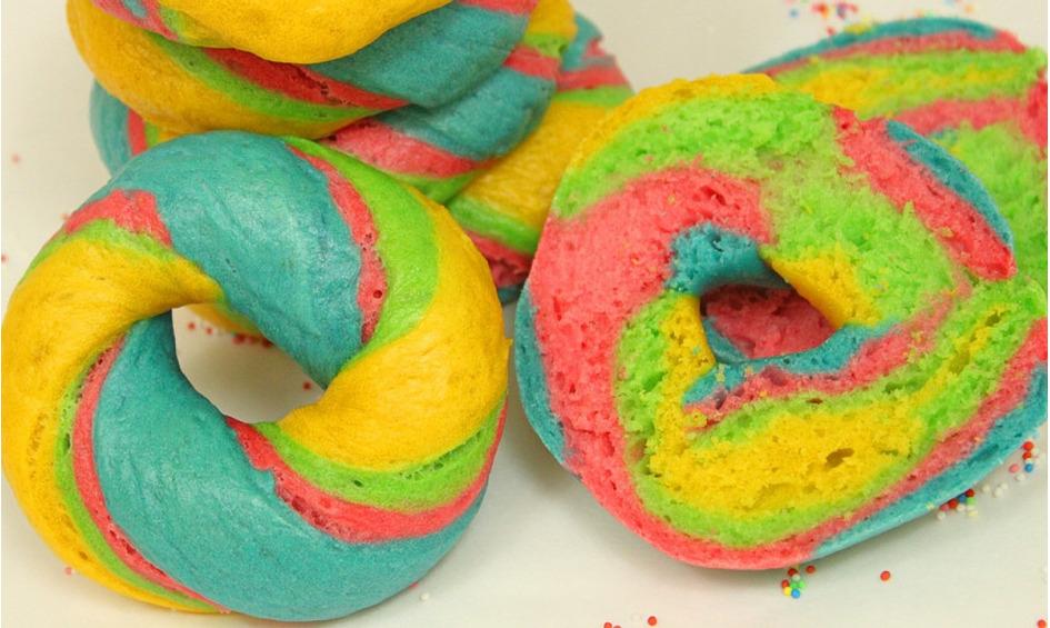 Rezept Rainbow Bagel, Food-Trend aus New York