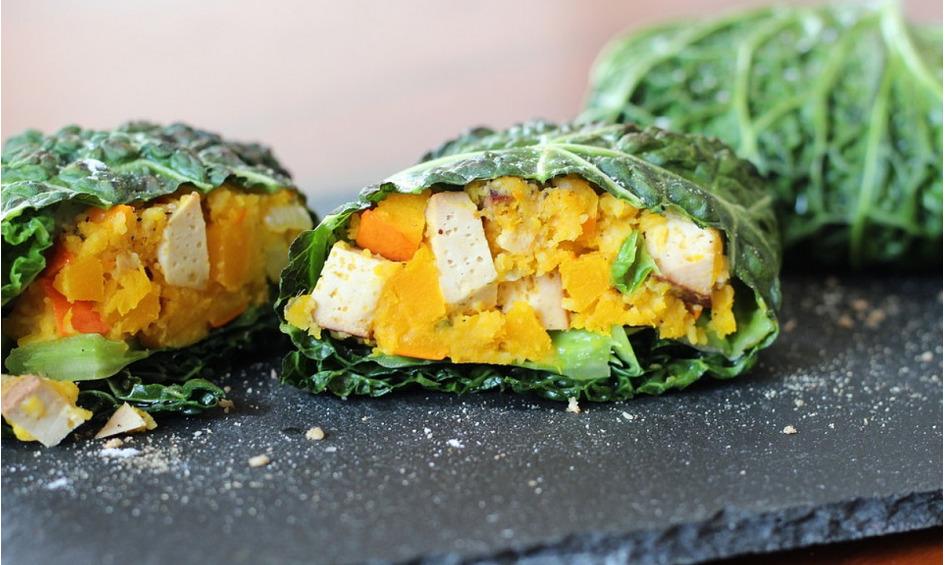Rezept Wirsingrouladen mit Kürbis-Tofu-Füllung