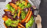 Rezept Gebratener Kürbis auf Blattsalaten