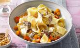 Rezept Bandnudeln mit Kürbis und Gorgonzola-Walnuss-Sauce