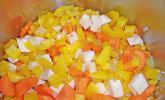 Cremesuppe aus gelben Paprikaschoten