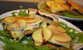 Auberginen - Tomaten Toast