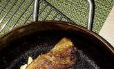 Schweinefilet Niedrigtemperatur überkrustet mit Käsepaste