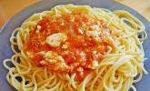 Spaghetti mit Schafskäse und Oliven