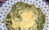 Grüne Nudeln mit 2-Käse-Sauce
