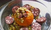 Bratapfel mit Blutwurst