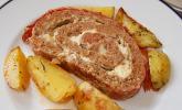 Mediterraner Hackbraten mit Oregano - Kartoffeln