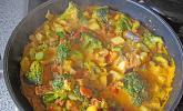 Cashew-Gemüse Indisch