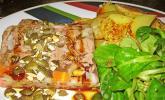 Rindfleischsülzchen mit gerösteten Kürbiskernen und Kernöl