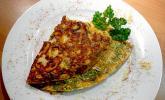 'Grünes' Omelette mit Champignons