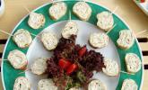 Forellen-Pfannkuchenröllchen