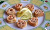Pfannkuchen mit Räucherlachs