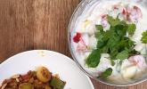 Orientalische Hackfleischpfanne mit Joghurtdip