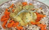 Hackfleischbällchen in Currysoße mit Reis, glutenfrei